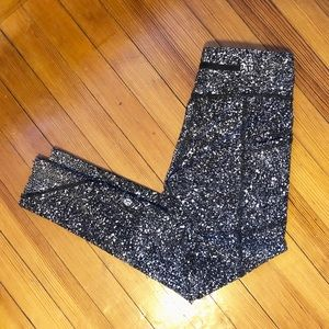 lululemon athletica Pants - Lululemon Tight Stuff II White Black Splatter 4